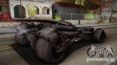 Batman VS Superman Batmobile для GTA San Andreas вид слева