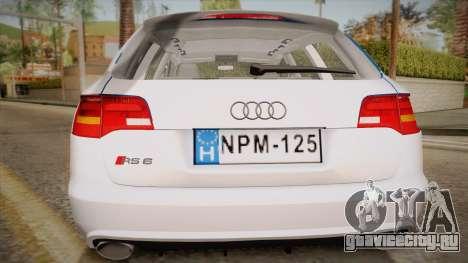 Audi RS6 Hungarian Police для GTA San Andreas вид справа