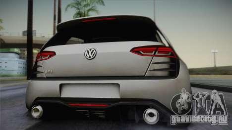 Volkswagen Golf Design Vision GTI для GTA San Andreas вид сзади