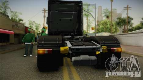 Mercedes-Benz Actros Mp4 6x4 v2.0 Steamspace v2 для GTA San Andreas вид изнутри