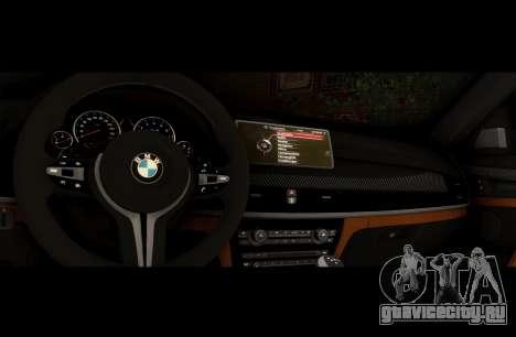 BMW X6M BULKIN SAMP EDITION для GTA San Andreas вид сзади