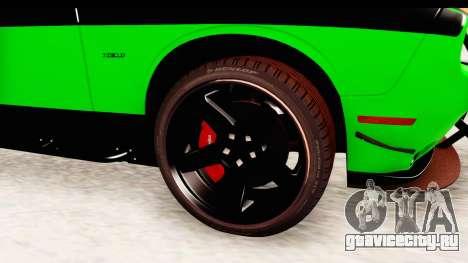 Dodge Challenger F&F 7 для GTA San Andreas вид сзади