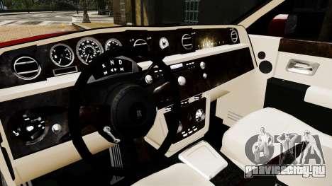 Rolls-Royce Phantom LWB V2.0 для GTA 4 вид изнутри
