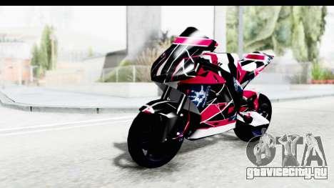 Dark Smaga Motorcycle with Frostbite 2 Logos для GTA San Andreas вид сзади
