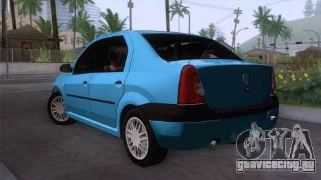 Dacia Logan Prestige 1.6L 16V для GTA San Andreas вид слева