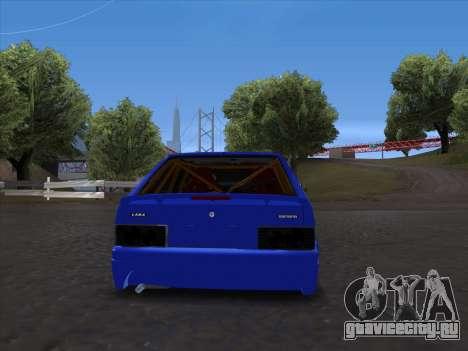 VAZ 2114 Sport для GTA San Andreas вид сзади