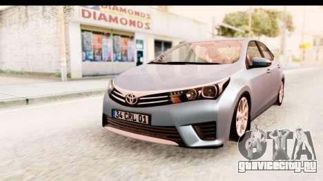 Toyota Corolla 2014 IVF для GTA San Andreas