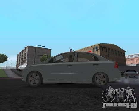 Chevrolet Aveo Armenian для GTA San Andreas вид сзади