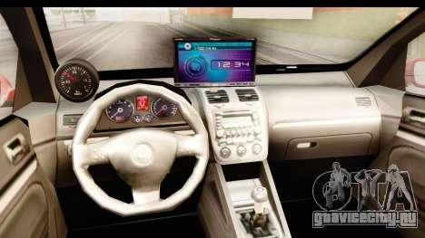 Volkswagen Golf GTI для GTA San Andreas вид изнутри