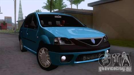 Dacia Logan Prestige 1.6L 16V для GTA San Andreas вид справа