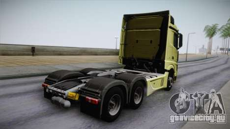Mercedes-Benz Actros Mp4 6x4 v2.0 Steamspace для GTA San Andreas вид слева
