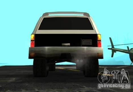 FBI Rancher Tuning для GTA San Andreas вид сзади