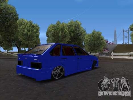 VAZ 2114 Sport для GTA San Andreas вид изнутри