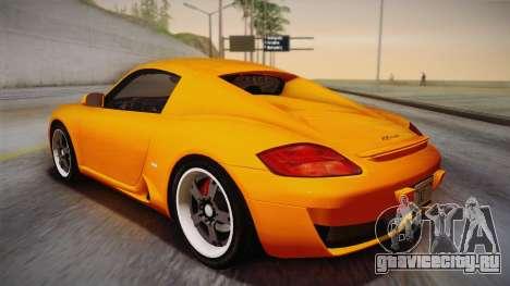 Ruf RK Coupe (987) 2007 IVF для GTA San Andreas вид слева