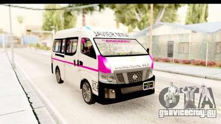 Nissan NV350 Urvan Comercial Mexicana для GTA San Andreas