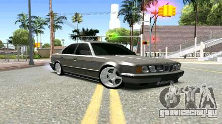BMW 535i E34 серебристый для GTA San Andreas