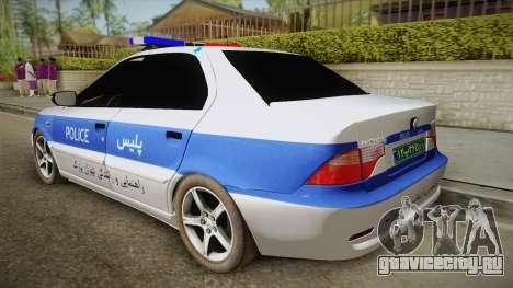Ikco Samand Police v2 для GTA San Andreas вид слева