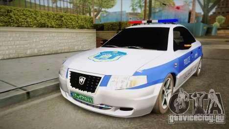 Ikco Samand Police v2 для GTA San Andreas