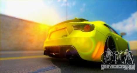 Toyota GT86 2015 Stance для GTA San Andreas вид сзади