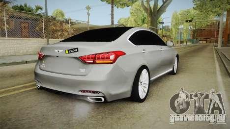 Hyundai Genesis 2016 v1.2 для GTA San Andreas вид слева