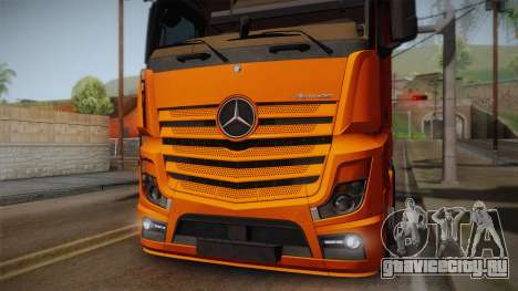 Mercedes-Benz Actros Mp4 4x2 v2.0 Steamspace для GTA San Andreas вид справа