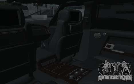 Land Rover Range Rover Vogue для GTA San Andreas вид сбоку