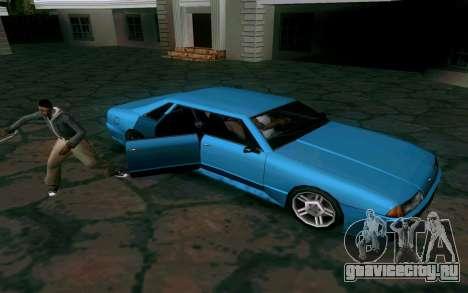 Elegy Sedan для GTA San Andreas вид сзади