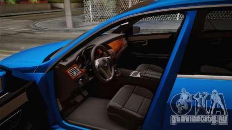 Mercedes-Benz W212 E-class для GTA San Andreas вид сзади