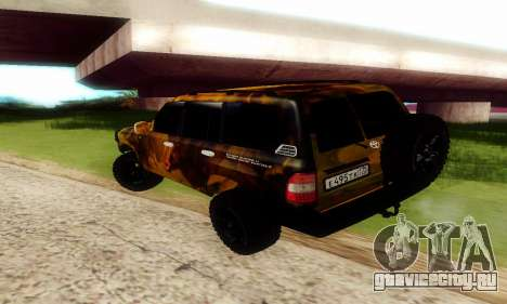 Toyota Land Cruiser 105 для GTA San Andreas вид изнутри