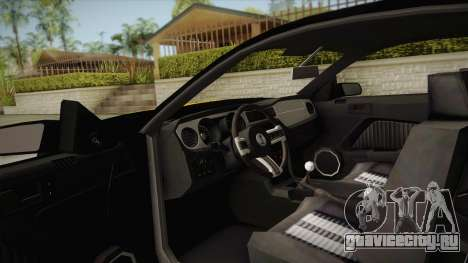 Ford Mustang GT500 для GTA San Andreas вид изнутри