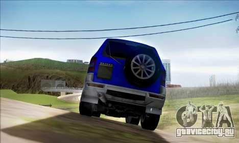 Mitsubishi Pajero 3 Beta для GTA San Andreas вид справа