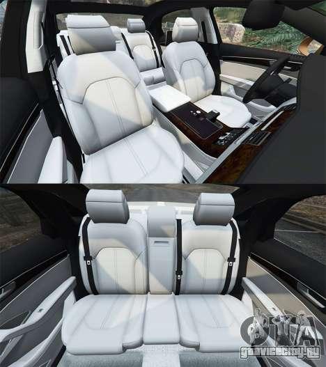 Audi A8 L (D4) 2013 [replace] для GTA 5 руль и приборная панель