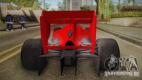 Lotus F1 T125 для GTA San Andreas вид сзади