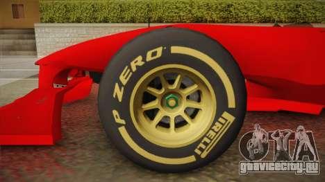 Lotus F1 T125 для GTA San Andreas вид сзади слева