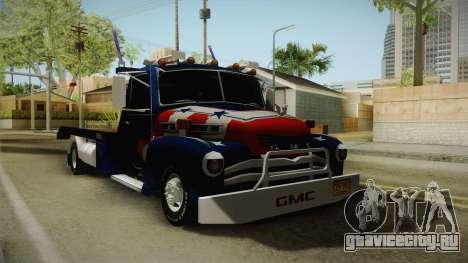 GMC 4100 1950 GRUA для GTA San Andreas вид сзади слева