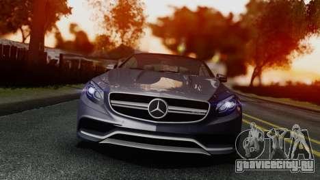 Mercedes-Benz S-Class Coupe AMG для GTA San Andreas вид справа