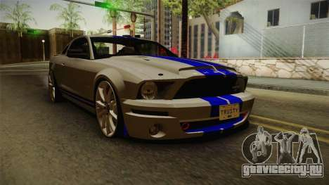 Ford Mustang Shelby GT500KR Super Snake для GTA San Andreas вид сзади слева