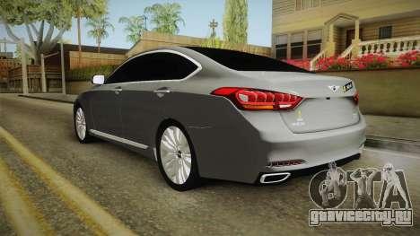 Hyundai Genesis 2016 v1.2 для GTA San Andreas вид сзади слева