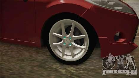 Ford Fiesta 2009 для GTA San Andreas вид сзади
