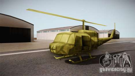 Bell UH-1H from Army Men: Serges Heroes 2 DC для GTA San Andreas вид справа