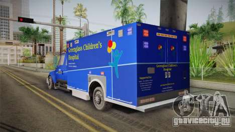 International Terrastar Ambulance 2014 для GTA San Andreas вид слева
