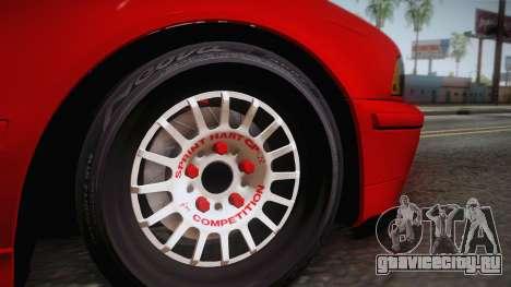 BMW 530d E39 Red Black для GTA San Andreas вид сзади слева