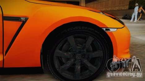 Nissan GT-R R35 для GTA San Andreas вид сзади