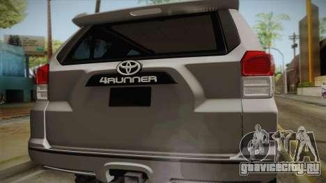Toyota 4runner 2010 для GTA San Andreas вид справа