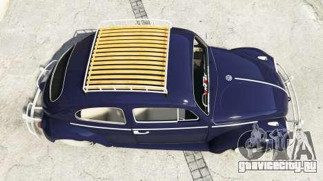 Volkswagen Fusca 1968 v0.9 [add-on] для GTA 5 вид сзади