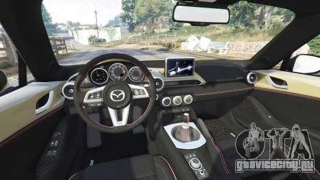 Mazda MX-5 2016 Rocket Bunny v0.1 [replace] для GTA 5