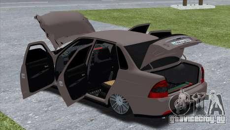Lada Priora Brodyaga для GTA San Andreas вид сзади слева