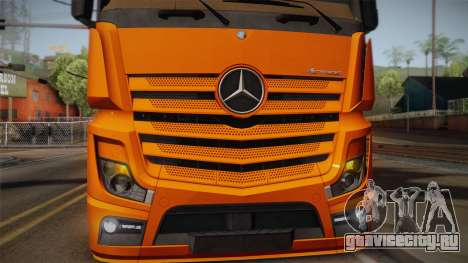 Mercedes-Benz Actros Mp4 4x2 v2.0 Steamspace для GTA San Andreas вид сзади