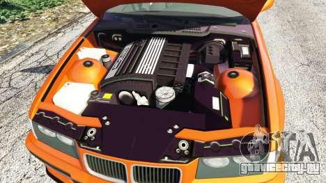 BMW 328i (E36) M-Sport v1.1 [replace] для GTA 5 вид сзади справа