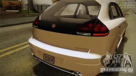 GTA 5 Emperor Habanero IVF для GTA San Andreas вид сверху